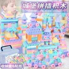 积木桌ch具3-6周ao1-2拼装塑料颗粒益智宝宝拼插男孩女孩(小)孩