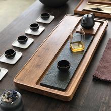 乌金石ch盘排水简约ef具套装重竹茶台实木家用茶海竹制 整块