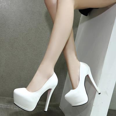 欧美性ch女鞋夜店粗ef台18cm/20公分超高跟凉鞋恨天高演出鞋