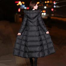 反季加ch羽绒棉衣女ra冬季修身大码棉服过膝棉袄冬装大衣外套