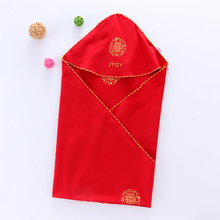 [chara]婴儿纯棉抱被红色喜庆新生