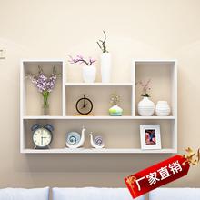 墙上置ch架壁挂书架on厅墙面装饰现代简约墙壁柜储物卧室