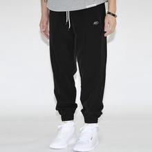 NICchID NIon季休闲束脚长裤轻薄透气宽松训练的气运动篮球裤子