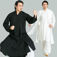 中国风ch装居士服棉on男士古装古风禅服唐装道袍中式长衫套装