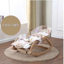 手自动ch生婴宝宝安on椅瑶瑶床篮车懒的多功能躺实木木