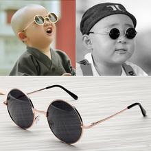 宝宝圆ch眼镜复古金rl形墨镜宝宝可爱男童萌(小)眼镜太阳镜潮女