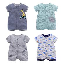 [charl]特价婴儿连体衣宝宝纯棉短
