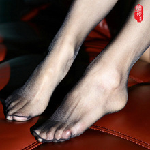 超薄新ch3D连裤丝le式夏T裆隐形脚尖透明肉色黑丝性感打底袜