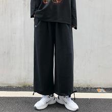 自制原chins超火le新式裤子国潮运动直筒百搭休闲长裤男女式