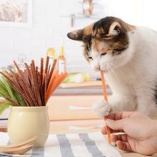 猫零食ch肉干猫咪奖le鸡肉条牛肉条3味猫咪肉干300g包邮