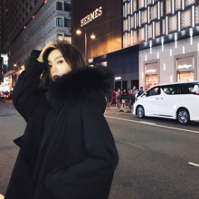 棉服女2021冬季新款大毛领ch11帽棉袄ap棉衣工装派克服外套