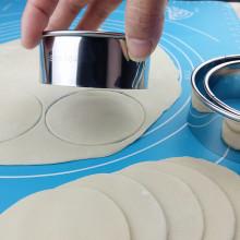 304ch锈钢切饺子ni3件套家用圆形大号压皮器手工花型包饺神器