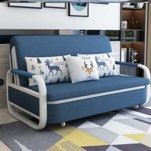 实木沙发床两用可折叠客厅单的ch11的1.rn能储物网红(小)户型