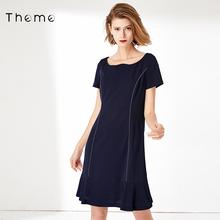 Theche专柜同式rrOL工装裙子2020秋季装新式时尚潮