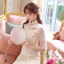 改良款旗袍修身显瘦连衣裙2ch1019新rr新式中国风少女年轻式