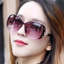偏光太ch镜女士20zl式明星时尚潮防紫外线墨镜个性百搭圆脸眼镜