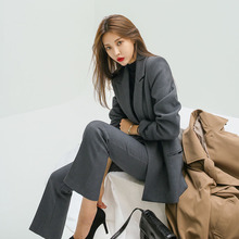 202ch春新式时尚zl松显瘦职业正装ol通勤西服套装女(小)西装套装