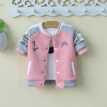 女童宝ch棒球服外套tu秋冬洋气韩款0-1-3岁(小)童装婴幼儿开衫2