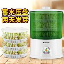 新式豆ch机家用全自tu量多功能智能生绿豆芽机盆豆芽菜发芽机