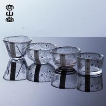 容山堂ch日本描金 tu目纹大(小)个的杯品茗杯 功夫茶具