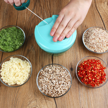 家用手ch绞肉绞菜机tu绞蒜神器厨房搅菜捣压蒜泥器碎大蒜工具