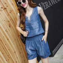 [chiwenle]夏季潮假两件阔腿裤套装女