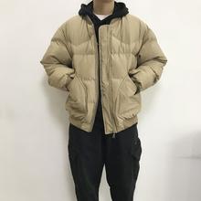 原创冬ch新式百搭男is流拉链棒球衫棉衣日系原宿短加厚棉服帅