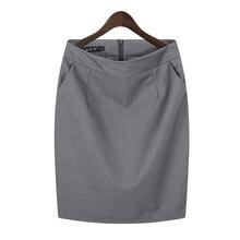 职业包ch包臀半身裙an装短裙子工作裙西装裙黑色正装裙一步裙