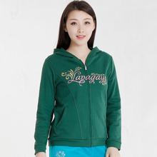 La chagayong雅春秋女装大码修身卫衣休闲外套运动衫DFW7915A