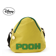 迪士尼ch肩斜挎女包ui龙布字母撞色休闲女包三角形包包粽子包