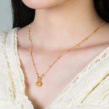 越南沙金圆ch2锁骨链女ti金百搭转运珠项链不掉色结婚礼物