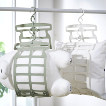 晒枕头ch器多功能专ti架子挂钩家用窗外阳台折叠凉晒网