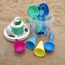 加厚宝宝ci滩玩具套装li沙玩沙子铲子和桶工具洗澡