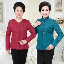 2020ci冬轻薄短款li羽绒棉服居家(小)棉袄中老年女装妈妈装外套