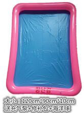 宝宝大ci充气环保沙li孩玩具池钓鱼水池太空沙决明子折叠沙盘