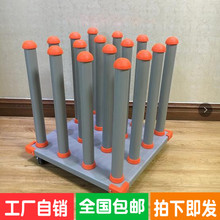 广告材ci存放车写真ku纳架可移动火箭卷料存放架放料架不倒翁