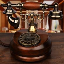 金顺迪ci式仿古实木ma转老式家用无线联通电信插卡座机