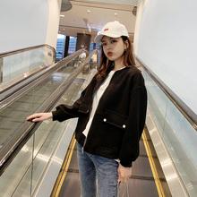 外套2ci21年新式da短式(小)个子洋气休闲棒球服女士春式百搭夹克