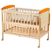 (小)龙哈ci婴儿床实木da床可移动新生宝宝摇篮床LMY289