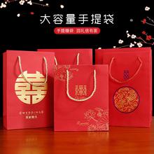 创意结ci手提糖袋大je礼品纸盒子婚礼袋纸袋婚庆用品喜糖盒子