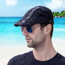 帽子男ci士春夏季帽je流鸭舌帽中年贝雷帽休闲时尚太阳帽