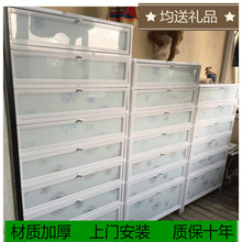 户外防ci防晒铝合金yl易不锈钢鞋柜架阳台室外大容量家用鞋柜