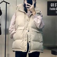 羽绒棉cj甲女202lw季新式韩款宽松短式坎肩背心显瘦面包服外套