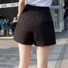 网红短cl女外穿20sh冬季式高腰韩款百搭A字显瘦阔腿裤宽松大码
