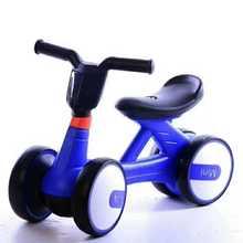 单车三cl一双轮(小)童wn行车婴幼儿宝宝滑行平衡车生日(小)孩四轮