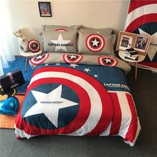 美国队cm全棉三四件gr男孩宿舍纯棉床上用品学生宝宝被单床笠