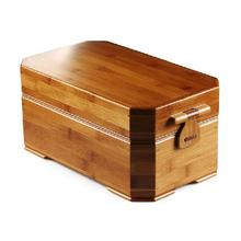 鱼员外cm竹制旅行茶bt收纳盒 便携式储水竹茶盘功夫茶具及零配