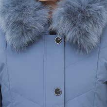 土新式cn妈妈冬装羽bu奶装狐狸真毛领加厚上衣中年女装保暖外