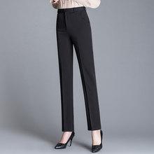 西裤女职业正装裤黑色高腰