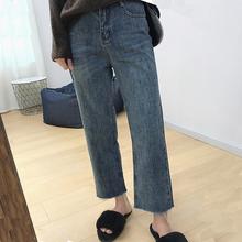 大码女co梨形身材裤ov妹妹高腰牛仔裤女显瘦秋季微胖女生穿搭
